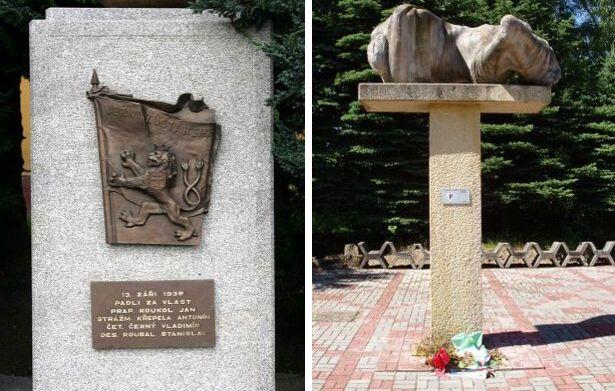 Pomníky v Habartově a ve Svatavě