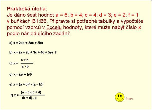 Excel v matematice